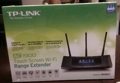 TP-LINK RE590T AC1900 Touch Screen WiFi Range Extender Sealed Box BRAND NEW!!!