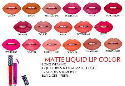 Clg Matte - LA COLORS LIP MATTE LIQUID LIPSTICK COUTURE WATERPROOF CHOOSE 18 COLORS COSMETIC