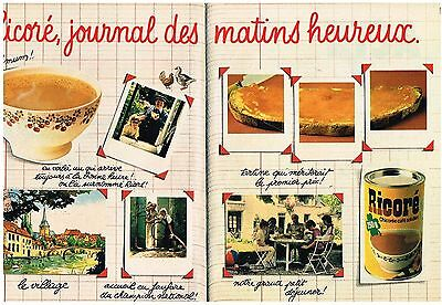 PUBLICITE ADVERTISING 1981 RICORE CAFE SOLUBLE (2 pages)