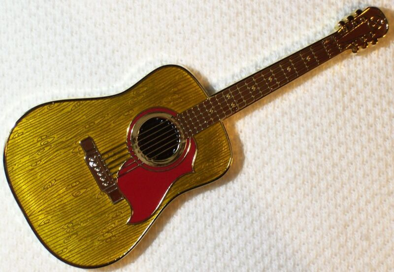 Acoustic Guitar - Natural Wood Edition by Landshakz, New Unactivated geocoin