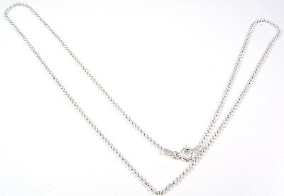 """Sterling Silver Vintage 925 Long Ball Bead Chain Necklace 24"""" (3.9g) - 532475"""