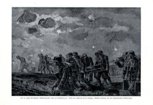 Arras Battle France XL 1917 art print WW 1 German soldiers machine gun Germany