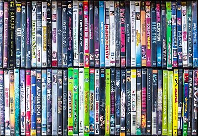Lot of 100 Used ASSORTED DVD Movies 100-Bulk DVDs Used DVDs Lot Wholesale Lots