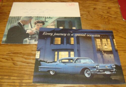 Original 1958 Cadillac Every Journey Deluxe Sales Brochure Mailer w Envelope
