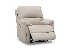 2 x Brand New 100% Leather Beige Electric Recliners Glenelg Holdfast Bay Preview