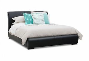 Queen Black Leather Bed + High Quality Mattress - Brand New Taringa Brisbane South West Preview