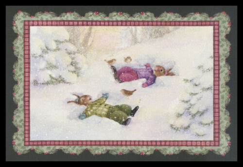 1070GC Susan Wheeler - Rabbit - Christmas Greeting Card