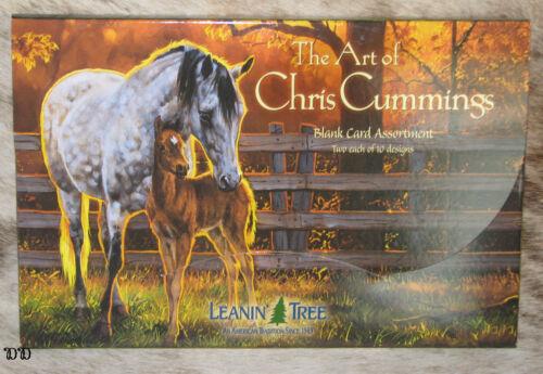 LEANIN TREE Chris Cummings Horses 20 Greeting Cards~2 each 10 designs~#90630