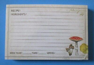 Mushrooms pack 50 RECIPE CARDS Legacy housewarming bridal shower gift - Bridal Shower Recipe Cards