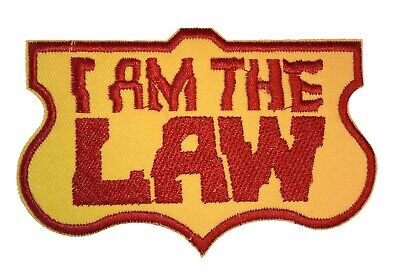 Judge Dredd I am the Law - Uniform Patch - Kostüm Aufnäher zum Aufbügeln neu