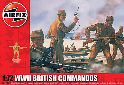 Airfix A01732  1/72 Plastic WWII British Commandos, 40 Figures