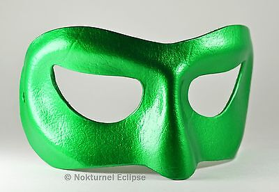 Male Green Lantern Leather Mask Halloween Cosplay Costume Geek Marvel Accessory Halloween Green Lantern