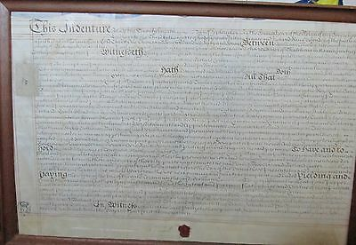 Antique Document 1767 INDENTURE wax seal signed sell year lease white SLAVE