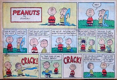 Peanuts by Charles Schulz - large half-page color Sunday comic - May 29, 1966](May Coloring Pages)