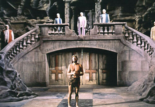 1970's BENEATH THE PLANET OF THE APES mutants grill Brent color 7x10 scene