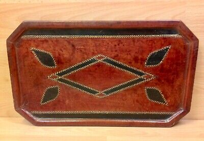 Vintage South African Leather Covered Tray.
