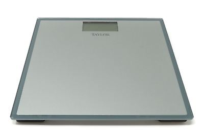 Taylor Tempered Glass Digital Bath Scale Instant Read Gray Blue 400Lbs 7558T