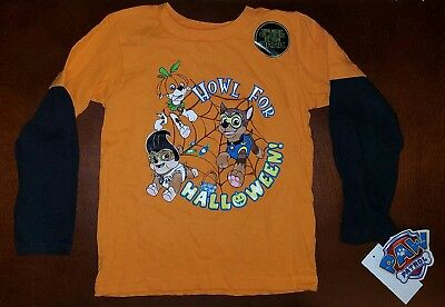 Nickelodeon Paw Patrol Halloween Toddler Boy Shirt Top New 5T](Toddler Boy Halloween T Shirts)