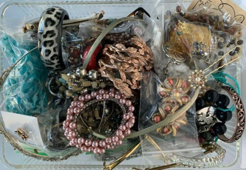 Mixed Bulk Lot of Vintage & Modern Jewelry - Over 4 Pounds 6 Ounces