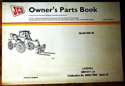 Jcb .520 Le Loadall Owners Parts Manualnew 98007824 Issue 5