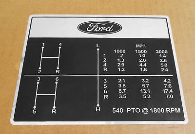 Shift Pattern Decal For Ford Decals 2000 2600 3000 3600 Industrial 2110 Lcg 231