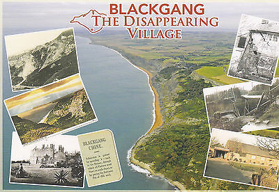 POSTCARD BLACKGANG CHINE THE DISAPPEARING VILLAGE, ISLE OF WIGHT / IOW / IW