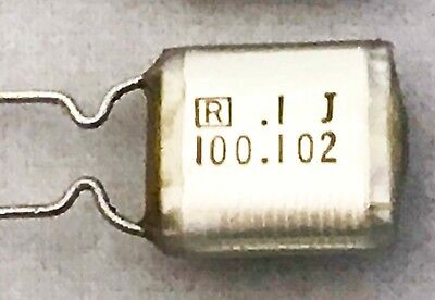 Qty-10 .1uf 100nf 100v Radial Polyester Film Guitar Tone Capacitor Nos