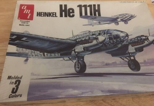 Vintage 1/72 AMT Heinkel He 111H Kit-Factory Sealed - $25.00