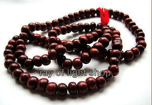 BUDDHIST ROSEWOOD Fair Trade MANTRA MALA BEADS 108 MEDITATION PRAYER BUDDHA AUM