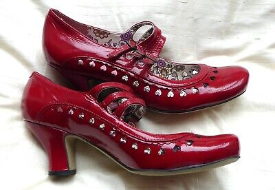 Hush Puppies Patent Red Court Shoes size 43