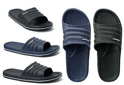 Men's Sports Slide Beach Sandals Soft Heavy Duty Beach Shower Pool Gym--06M