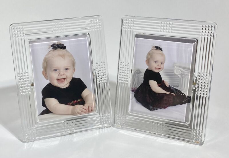 "Set of 2 - Matching Vintage Waterford Crystal Photo/ Picture Frames - 4""x 6"""