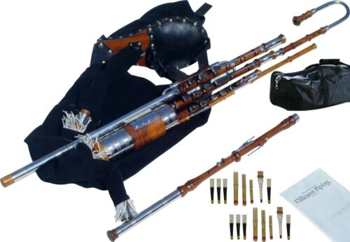 Uilleann Pipes | Full Set Bagpipes | Cocobolo Wood with 3 Keys Chanter