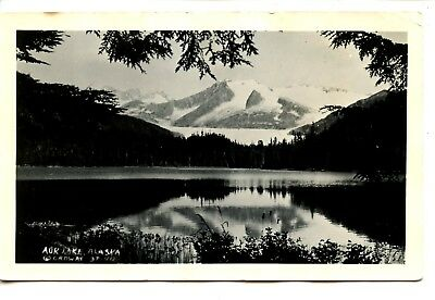 Pretty Reflection Auke Lake-Juneau-Alaska-RPPC-Vintage Real Photo (Reflection Lake Alaska)
