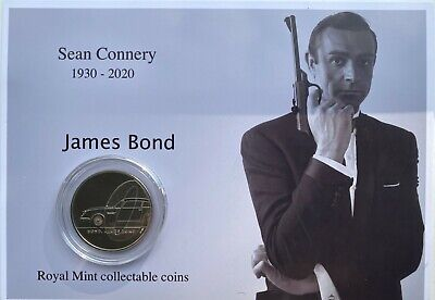 New Sean Connery as James Bond royal mint £5 coin gift set
