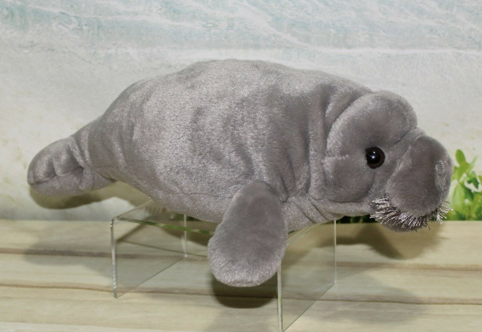 "Wild Republic MANATEE 13"" Plush Cuddlekins Gray Stuffed"