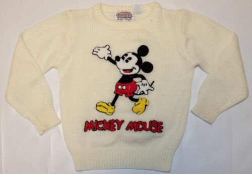 Vintage Mickey Mouse Walt Disney Character Fashions Knit Sweater Children