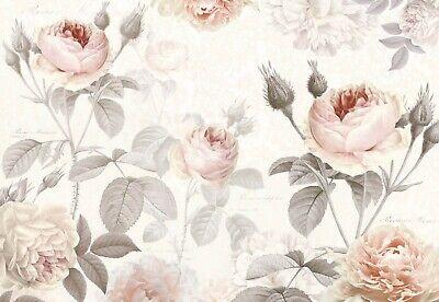 Premium Papel Pintado Mural 368x248cm Rosa y Beige Floral Foto Pared Komar