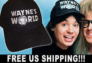 be0b126ff95ff Wayne s World Hat embroidered Waynes cosplay twill cap Halloween party  costume