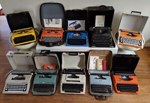 Retro Manual Typewriters W Cases Olivetti Brother Olympia Adler Keysborough Greater Dandenong Preview