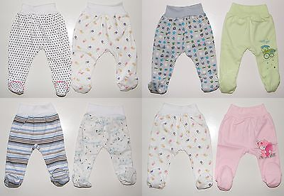 2er Pack Stramplerhose mit Fuß Schlupfhose Baby Hose Gr. 50 56 62 68 74 80 86   2er-pack Baby-hose