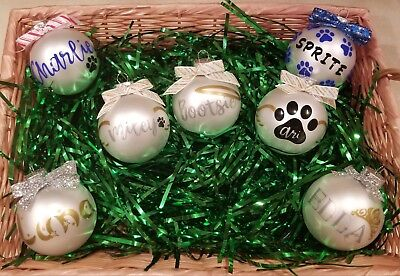 Personalised Christmas Ornaments (Personalized Dog Glass Christmas)