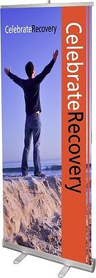 Celebrate Recovery Retractable Banner Stand W Gloss Print Free Design Case