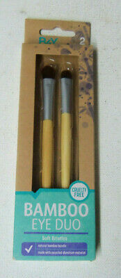 1 duo set B4Y BETTER FOR YOU BAMBOO EYE DUO NATURAL BAMBOO HANDLE sealed (Best Brush Set For Eye Makeup)