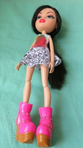 "Bratz JADE CREATE IT YOURSELF 10"" DOLL w/TYE DYE SHIRT WHITE BLACK SKIRT"