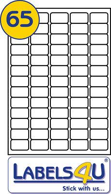 50 Sheets 65 labels per sheet, Size 38.1 x 21.2 mm L7651/J8651 compatible