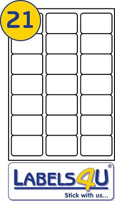 50 Sheets of A4 Labels 63.5x38.1mm 21 Labels Per Sheet - L7160/J8160