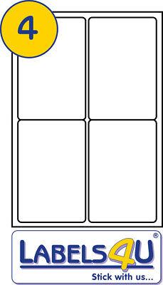 100 X SHEETS BLANK WHITE A4 LABELS 4 PER SHEET L7169 J8169 compatible 99.1 x 139