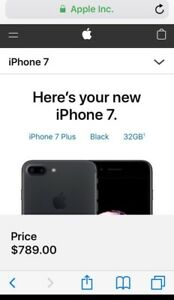 iPhone 7 Plus Black 32GB Unlock