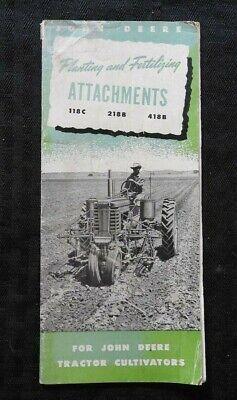 1953 John Deere Model 118c 218b 418b Disc Harrow Attachment Brochure Catalog